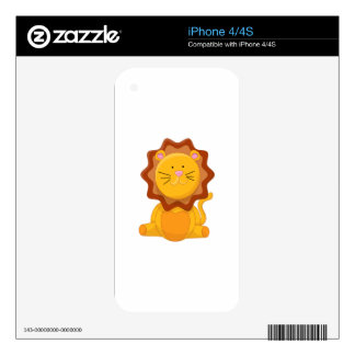 Baby Lion Cartoon Skin For The iPhone 4