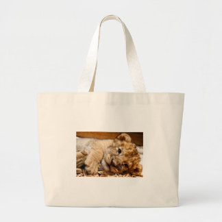 Baby Lion Cub Large Tote Bag