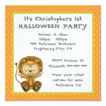 Baby Lion First Halloween Party Personalized Invitations