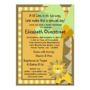 Lion king invitations zazzle baby lion jungle king shower zoo safari custom invitation filmwisefo