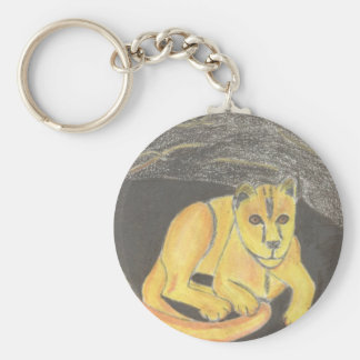 Baby Lion Keychain by Julia Hanna