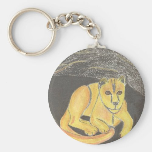 Baby Lion Keychain by Julia Hanna