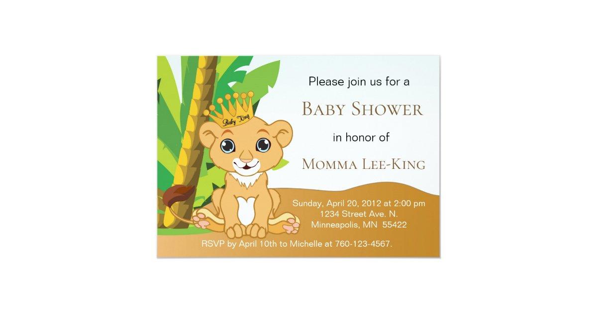 Baby Lion King Invitation | Zazzle.com