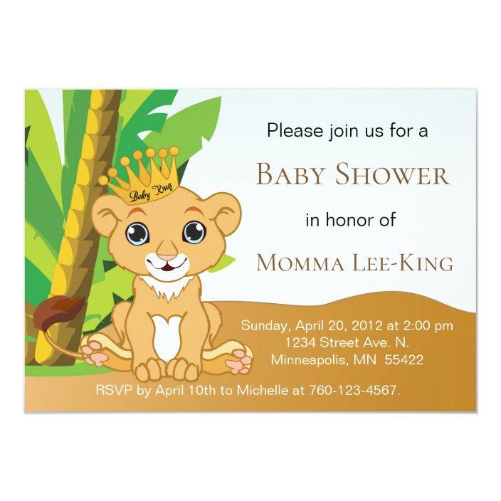 Baby Lion King Invitation Zazzle