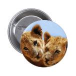 Baby lion love 2 inch round button
