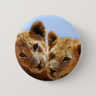 Baby lion love button
