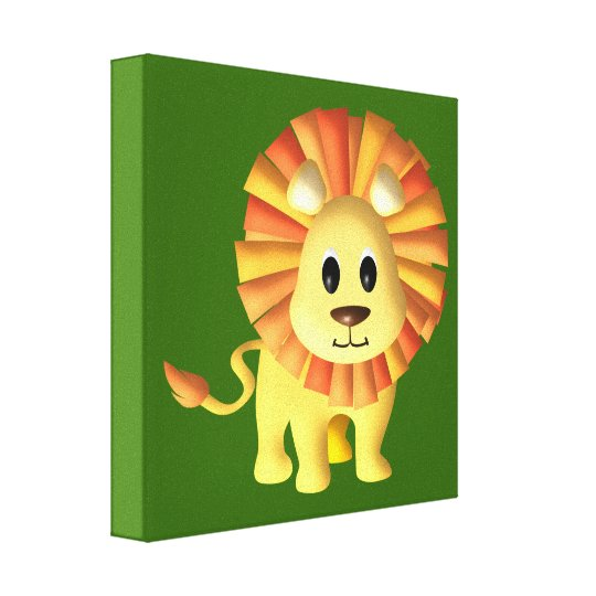 Baby Lion/ Nursery Decor Canvas Print