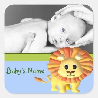 Baby Lion/Photo Square Sticker