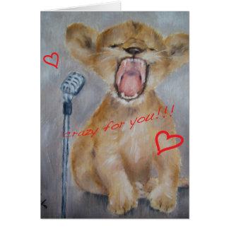 Baby Lion Valentine's Day Card