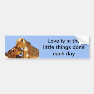 Baby lions love bumper sticker