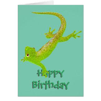 Baby Lizard Birthday Card