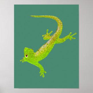 Baby Lizard Cartoon Poster