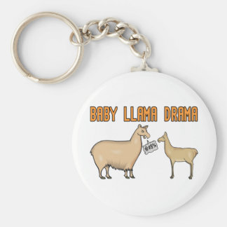 Baby Llama Drama Basic Round Button Keychain