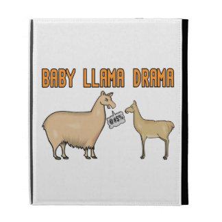 Baby Llama Drama iPad Folio Cases