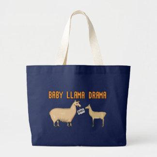 Baby Llama Drama Large Tote Bag