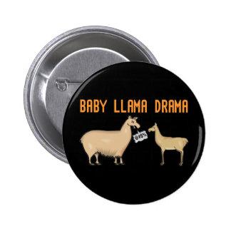 Baby Llama Drama Pinback Button