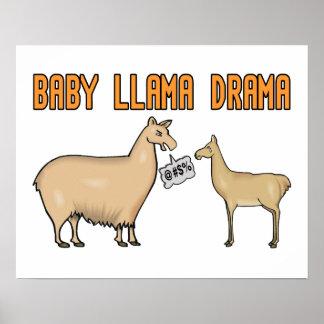 Baby Llama Drama Poster