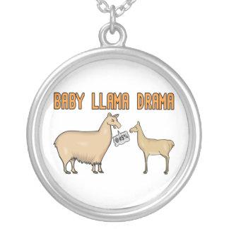 Baby Llama Drama Round Pendant Necklace