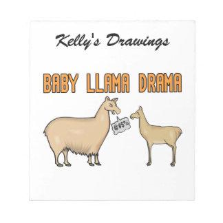 Baby Llama Drama Scratch Pad