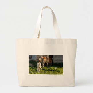 Baby Llama family Large Tote Bag