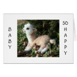 BABY LLAMA SAYS HAPPY FOR YOU AND NEW BABY CARD