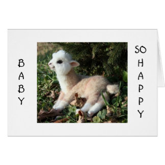 BABY LLAMA SAYS HAPPY FOR YOU AND NEW BABY GREETING CARD
