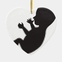 Baby Loading Ceramic Ornament
