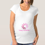 Baby Loading - pink Maternity T-Shirt