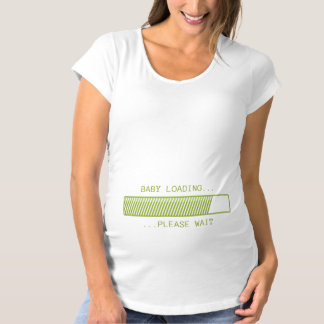 Baby Loading Please Wait Green Maternity T-Shirt
