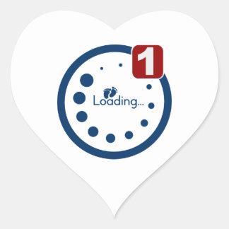 Baby Loading Plus Notification Heart Sticker