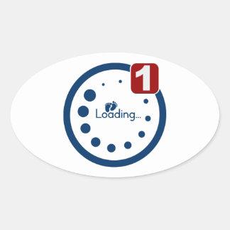 Baby Loading Plus Notification Oval Sticker