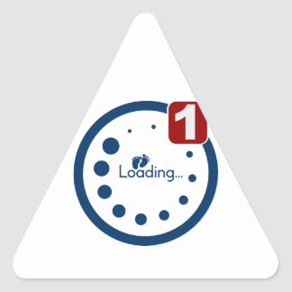 Baby Loading Plus Notification Triangle Sticker