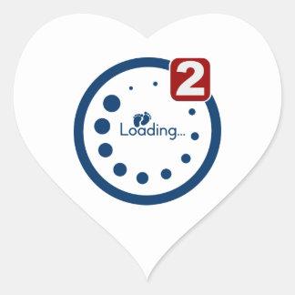 Baby Loading , Twin Notification Heart Sticker