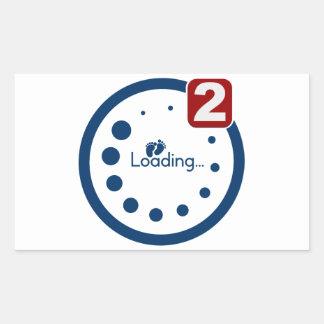 Baby Loading , Twin Notification Rectangular Sticker