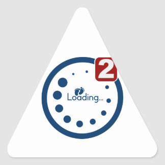 Baby Loading , Twin Notification Triangle Sticker
