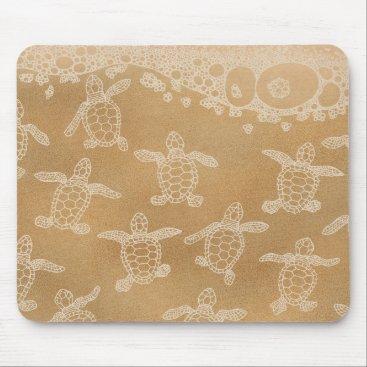 Baby loggerhead turtles mouse pad