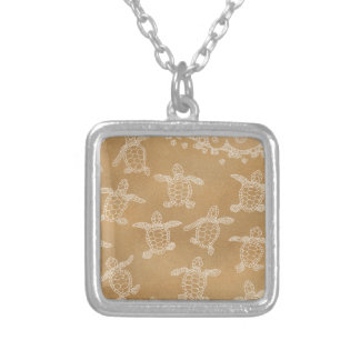 Baby loggerheads silver plated necklace