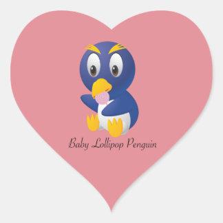 Baby Lollipop Penguin Gifts for All Heart Sticker