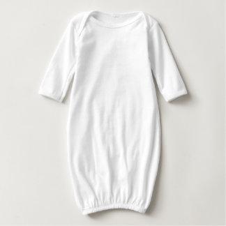 Baby Long Sleeve Gown q qq qqq Text Quote T-shirts