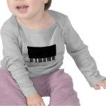 Baby Long Sleeved T-Shirt - Piano Keyboard