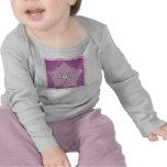 Baby Long Sleeved T-Shirt - Purple Star Pattern