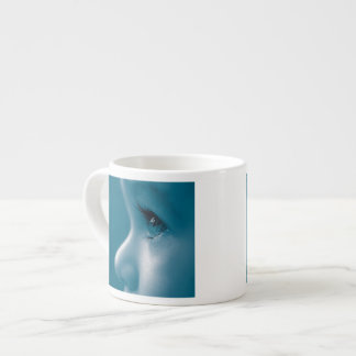Baby Looking Child Face Eyes Eyelashes Blue Espresso Cup