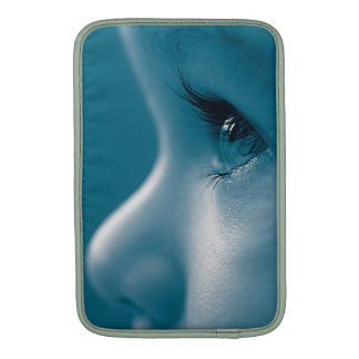 Baby Looking Child Face Eyes Eyelashes Blue Sleeve For MacBook Air