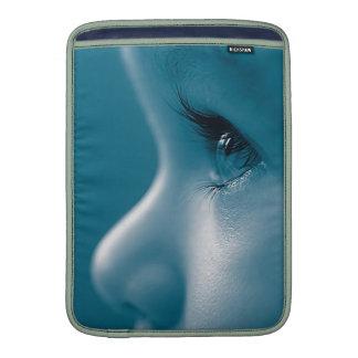 Baby Looking Child Face Eyes Eyelashes Blue MacBook Sleeve