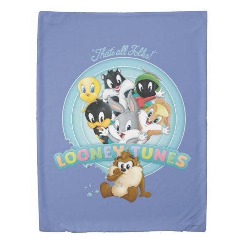 Baby Looney Tunes Logo   That's All Folks Duvet Cover