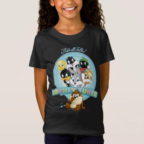 Baby Looney Tunes Logo  Thats All Folks T_Shirt