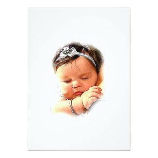 Baby Love 5x7 Paper Invitation Card