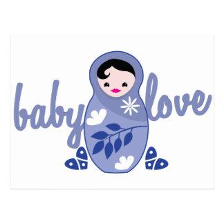 Baby Love babooshka doll in Blue Postcard