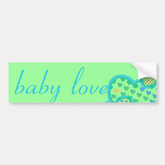 baby love blue green yellow bumper stickers