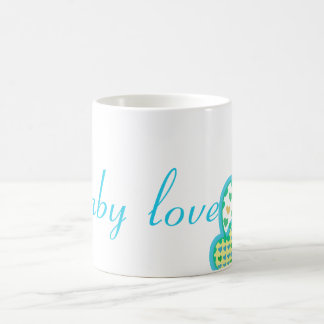 baby love blue green yellow coffee mug